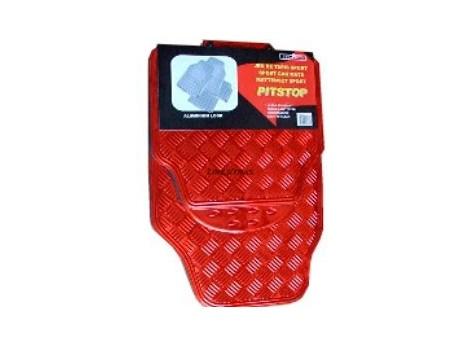 Kit 4 Carpets PVC Aluminium Red