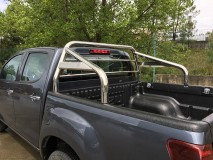 ROLL-BAR C/PROT. VIDRO INOX 63MM ISUZU D-MAX 2012