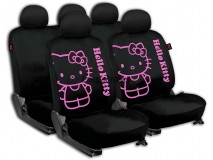 Complete Car Seat Covers Set Hello Kitty