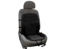 Woonded beaded car seat cover