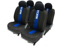 Complete Car Seat Covers Set Classic Sparco Corsa Blue