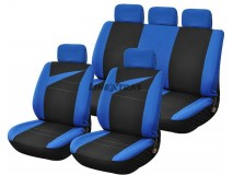 Complete Car Seat Covers Bolt Blue / Black