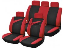 Complete Car Seat Covers Bolt Red / Black