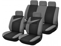 Complete Car Seat Covers Bolt Grey / Black