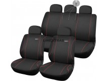 Complete Car Seat Covers Diablo Black / Red