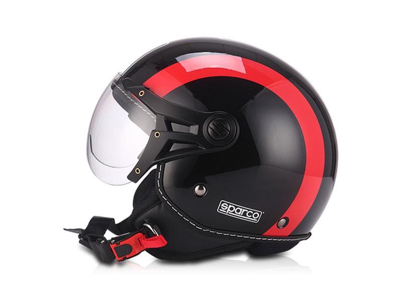 HELMET 501 BLACK / RED T.M. SPARCO