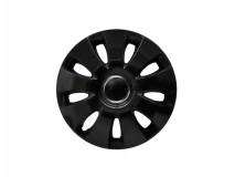 "Kit 4 Wheel Covers Aura Black 13"""