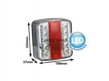 Farolim traseiro 4 funções em LED