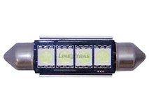 KIT LAMPADAS TUBULAR 4 LED SMD CANBUS 42mm