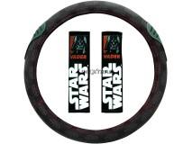 Steering Wheel Cover Star Wars Vader + Pillows Black