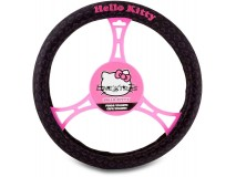 Steering Wheel Cover Hello Kitty Black
