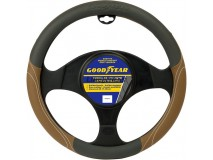 Steering Wheel Cover Goodyear Brown / Grey