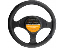 Steering Wheel Cover BC Corona Leather Black