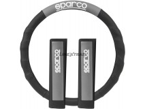 Steering Wheel Cover Sparco Corsa + Pillows Grey