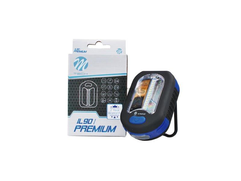 [06.IL90] PREMIUM FLASHLIGHT 12 + 3 SMD, (3 AA batteries)