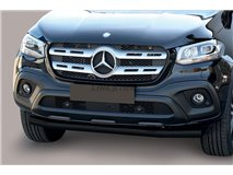 Front Spoiler Tube Black  76mm Mercedes X Class