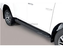Side Steps Toyota Hilux Revo EC Stainless Steel Black
