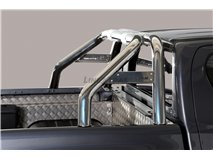 Double Roll-Bar W/ Mark Stainless Steel Toyota Hilux Revo