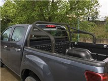 ROLL-BAR C/PROT. VIDRO PRETO 63MM ISUZU D-MAX 2012