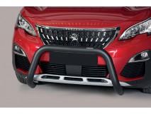 Big Bar U Peugeot 3008 2016+ Stainless Steel Black 76MM W/O EC