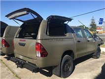 Hard-Top Trabajo Toyota Hilux Revo DC 2016+ C/ Puertas Laterales Linextras (Gel White)