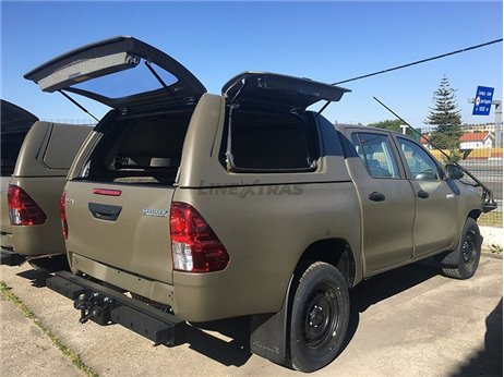 Hard-Top Work Toyota Hilux Revo DC 2016+ W/ Side Doors Linextras