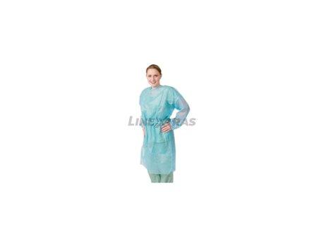 Disposable Green Polypropylene Dress 10Un