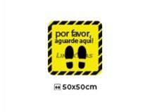 """Floor Sticker 50X50Cm """"Please Wait Here"""""""
