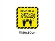 """Sticker 50X50Cm """"Resp. The Safety Dist."""""""