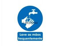 "Autocolante 25X30Cm ""Lave As Mãos Frequentemente"""