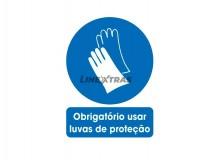 "Pegatina 25X30Cm ""Te obliga a usar guantes protectores""."