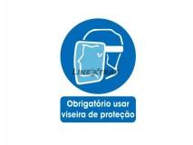 "Sticker 25x30Cm ""Mandatory to use visor"""