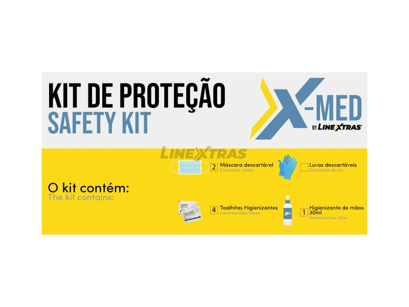 Emergency Kit 2xMask + 4xToal + 1xSpray