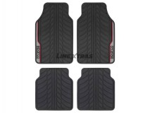 Kit 4 Rubber Mats Sparco Black / Red / Gray