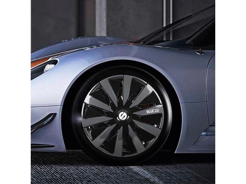 "[27.SPC1591BKGR] Wheel covers Lazio Bicolor 15"""