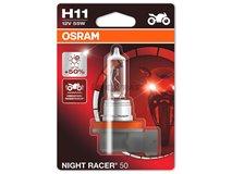 Lamp H11 Osram 12V 55W Night Racer + 50%