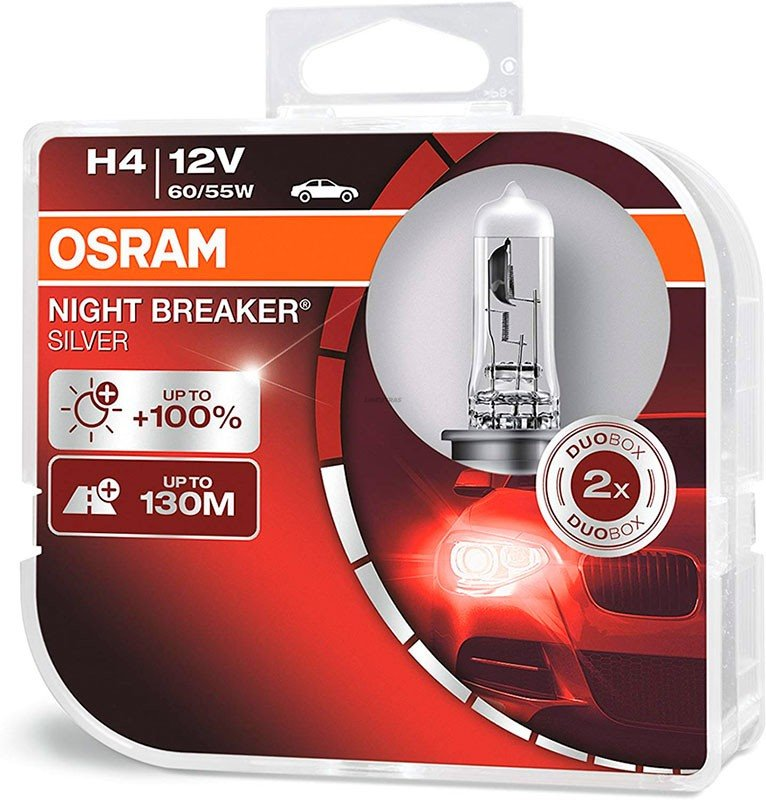[06.64193NBS-HCB] Lamps H4 Osram Night Breaker Silver (Cx2)