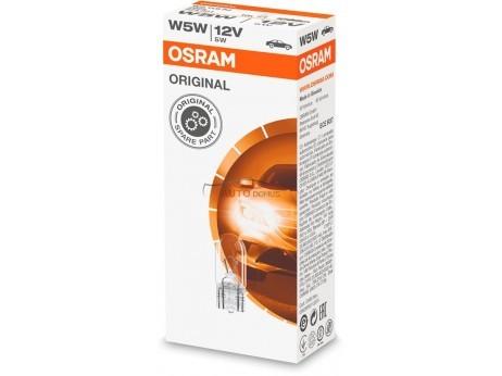 [06.2825] OSRAM W5W lamp (T10) 12v 5w (2,1x9.5d)