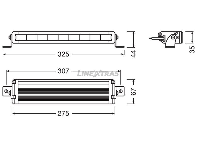 OSRAM LEDriving LIGHTBAR VX250 12 / 24v SPOT