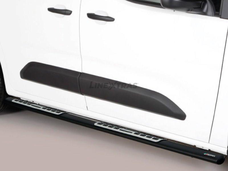 Side Steps Black W/Pl Alum.Toyota Proace City 2019