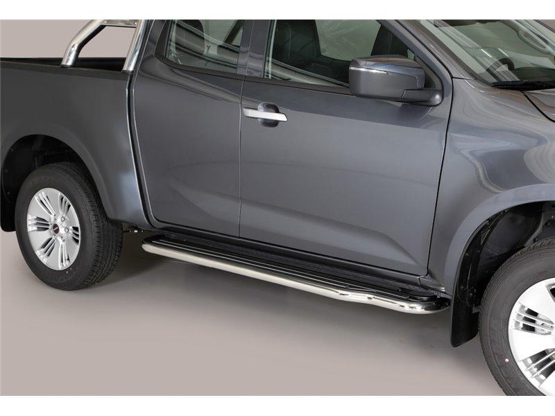 [50.OC5 05/I] SIDE STEPS S S.STEEL ISUZU E/CAB. D-MAX 2020