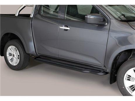 [50.OC5 05/P] SIDE STEPS BLACK ISUZU E/CAB. D-MAX 2020