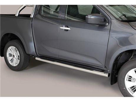 [50.OC5 08/I] TUBE SIDE STEPS S.STEEL E/CAB. ISUZU D-MAX 2020