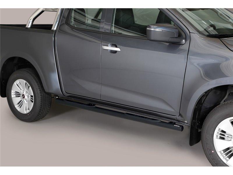 [50.OC5 08/P] TUBE SIDE STEPS BLACK E/CAB. ISUZU D-MAX 2020