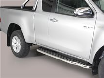 SIDE STEPS S/ STEEL E/C TOYOTA HILUX ROCCO 2020