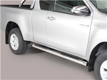 SIDE STEPS TUBE S/STEEL E/C TOY. HILUX ROCCO 2020