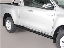 SIDE STEPS TUBE BLACK E/C TOY. HILUX ROCCO 2020