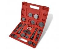 Tool kit indentation piston disc brake caliper