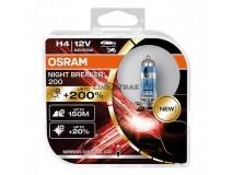 Bulbs H4 OSRAM 12V 60/55W NIGHT BREAKER 200[2UN]