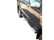 Side Steps Toyota Hilux 06-16 DC Stainless Steel Tube 76MM